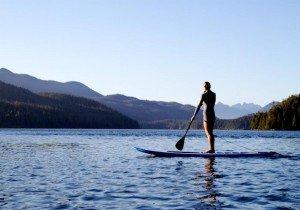 Paddleboarder on pristine Clayoquot Sound, ©Tourism Tofino