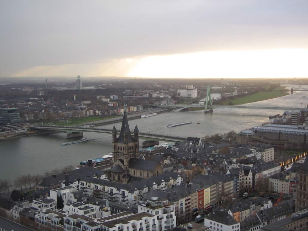 View from the top of Cologne's Cathedral Photo Credit: Sarah Johnson