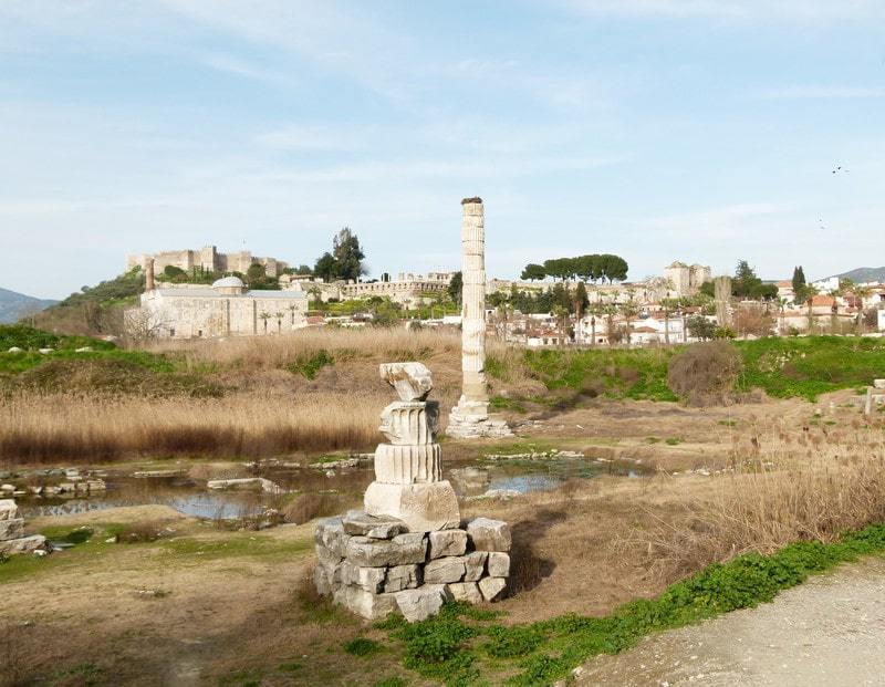 Temple of Artemis, covered over for protection