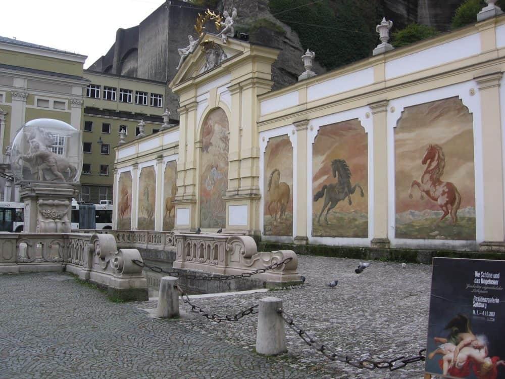Horse Pond in Salzburg, Austria.