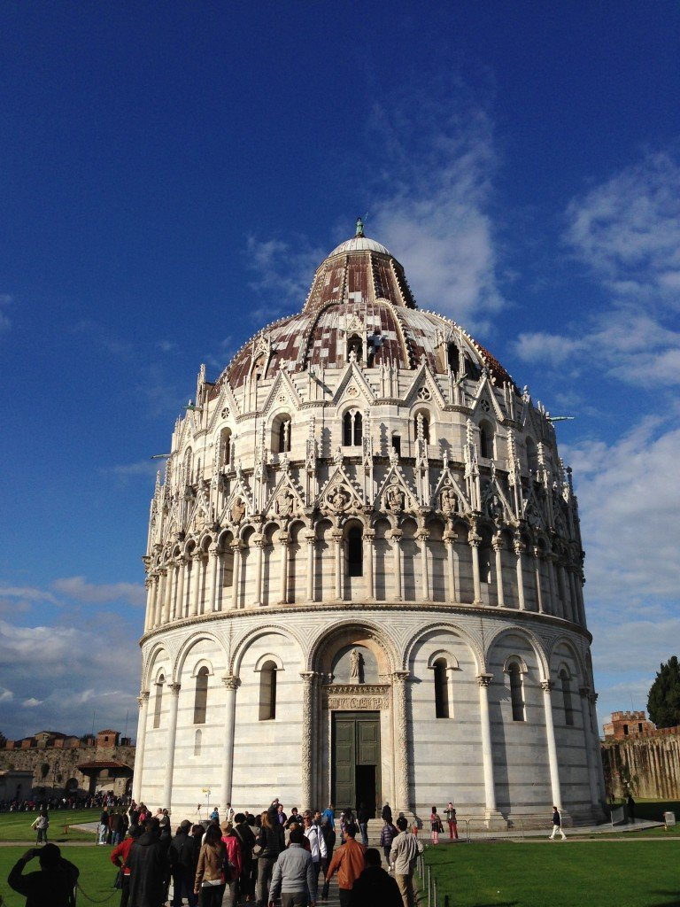 Baptistry in the Square of Miracles in Pisa Photo by Christine Salins