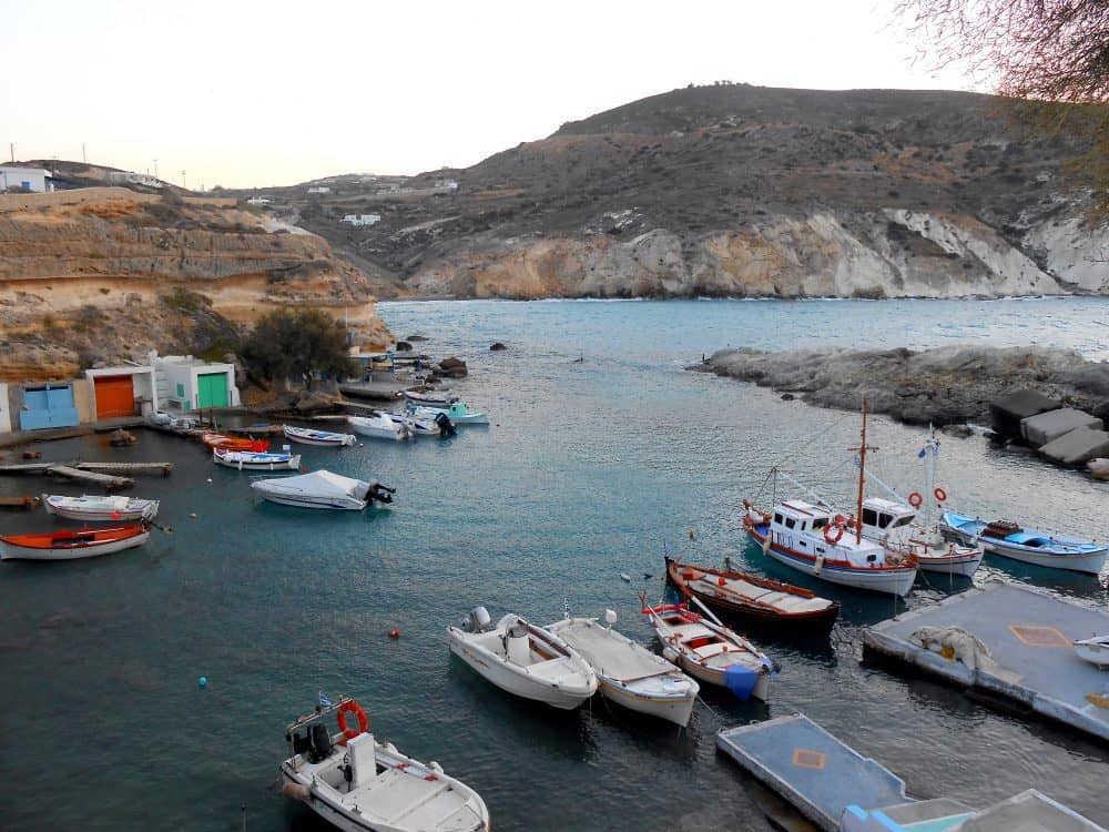 Fishing Harbor, Milos. Greece.