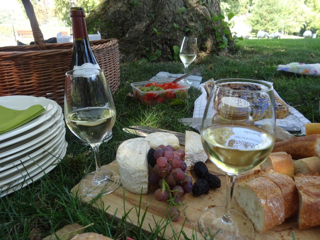 Picnic in Burgundy Photo by Maurie O'Connor