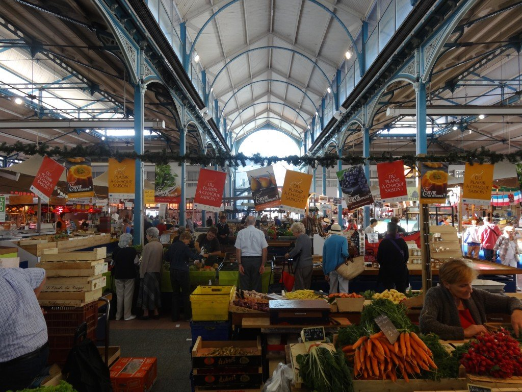 Produce market in Dijon Photo by Maurie O'Connor