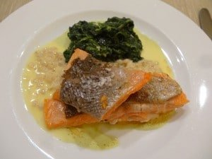 Salmon with beurre blanc Photo by Maurie O'Connor
