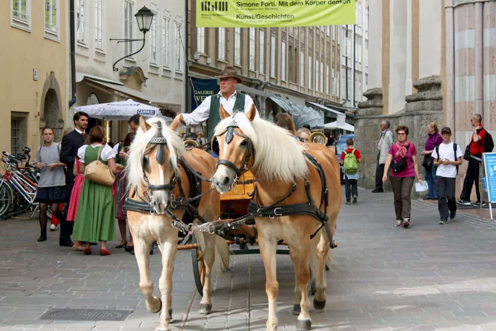 horse and carriage ride, Salzburg