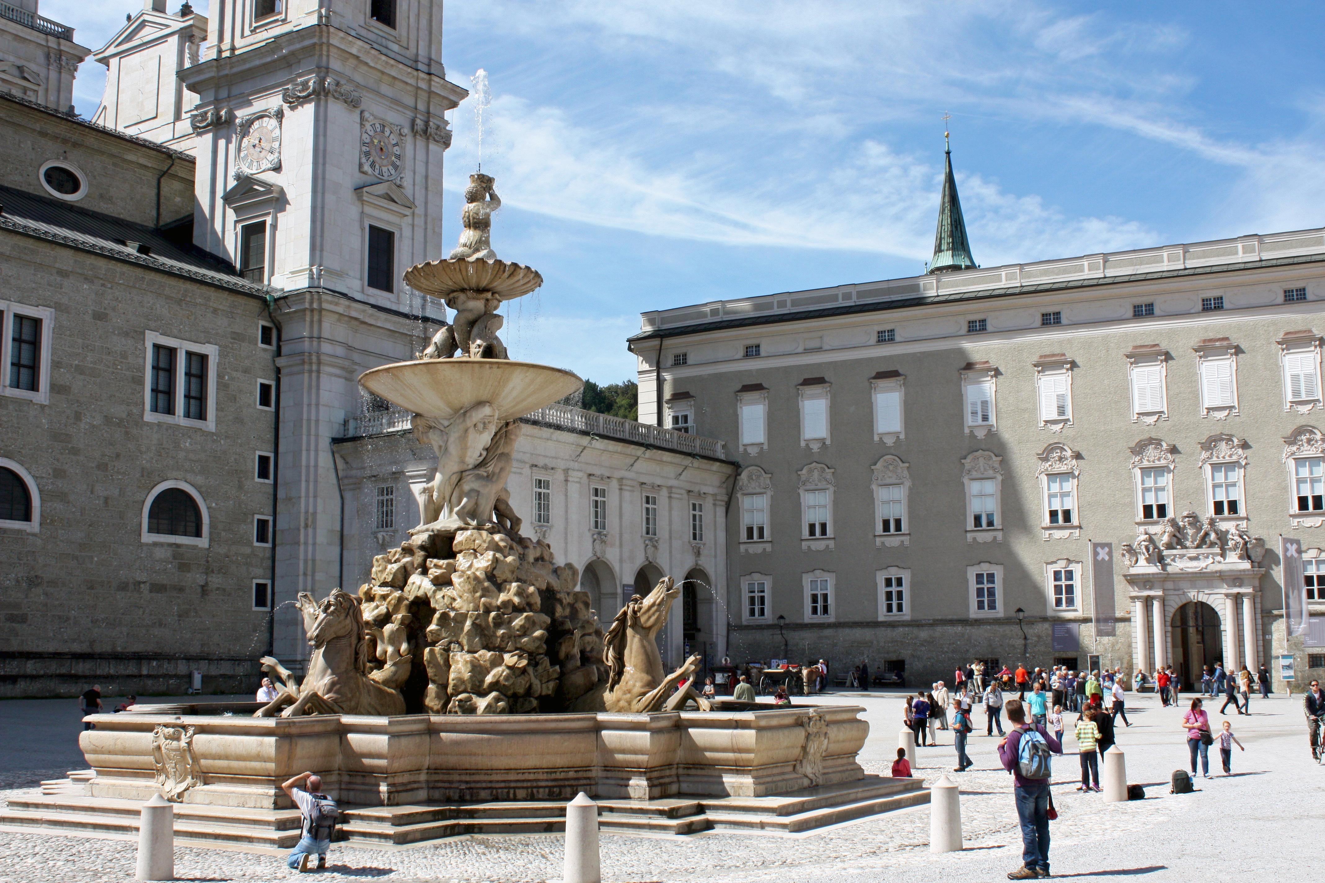 horse fountain, Residenzplatz, Salzburg