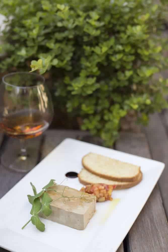 Spiced chicken liver parfait, toasted brioche, and apple chutney (Credit: Jason van der Merwe)