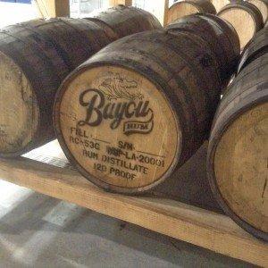 Rack of Aging barrels of rum