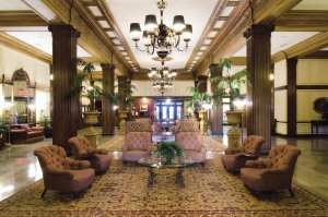The historic Marcus Whitman Hotel lobby, ©Marcus Whitman Hotel