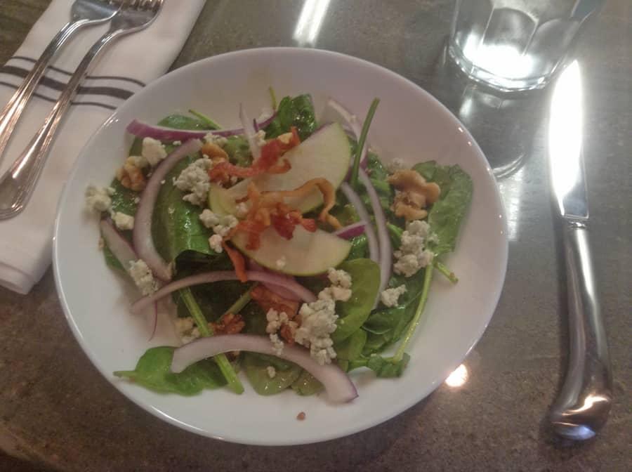 Chef Larry Delgado's salad (c) Kathleen Walls. FWT Magazine.