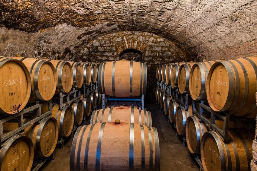 Brivio Vini wine cellar