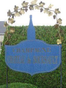 Chateau de Boursault welcome sign