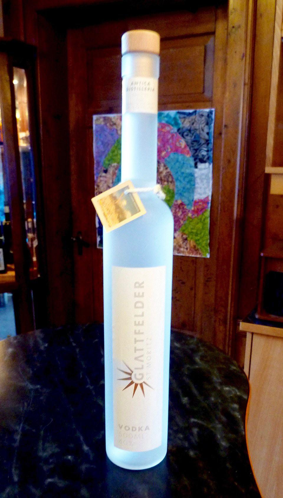 Glattfelder vodka, Beretta distillery, Tschierv, Switzerland
