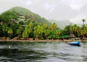 Anse Chastanet, Jade Mountain, Scuba Saint Lucia During Misting Rain