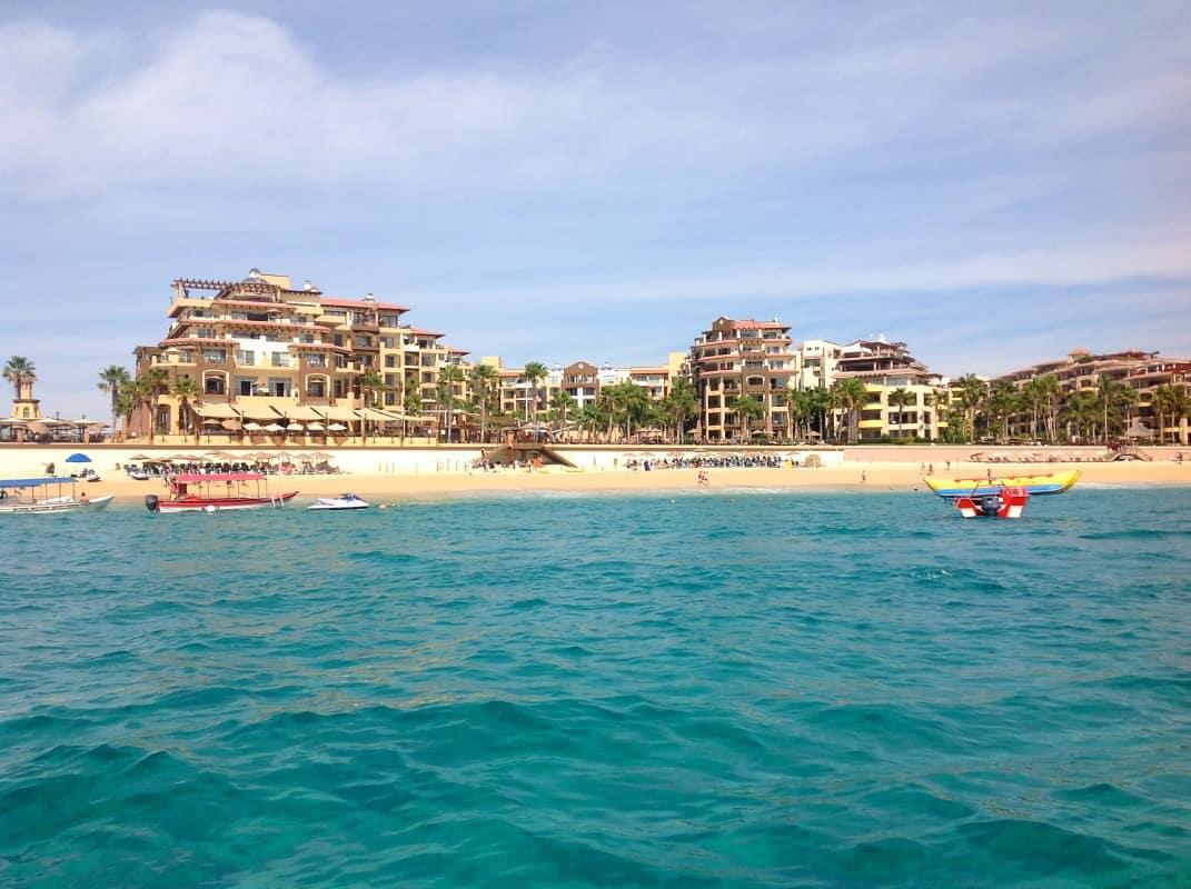 Hotels on Playa Medano en route to Playa del Amor.