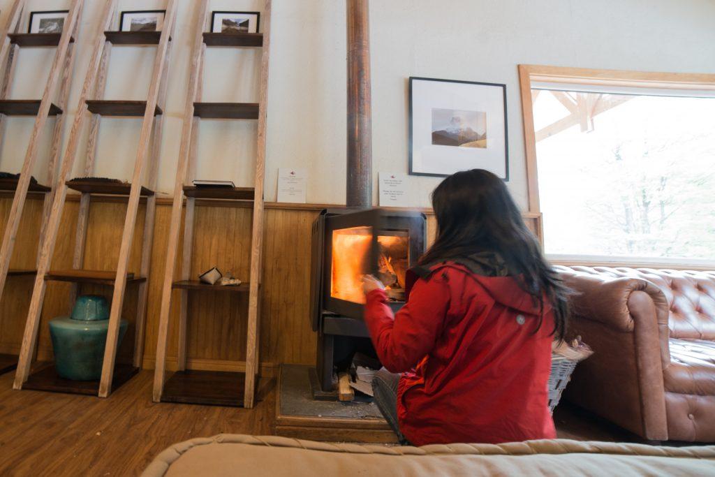Refugio Fireplace, Patagonia.