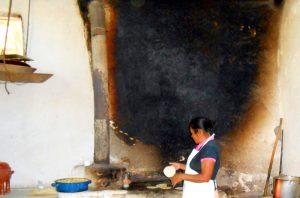 Old Maya-style kitchen - still in use at Hacienda San Lucas