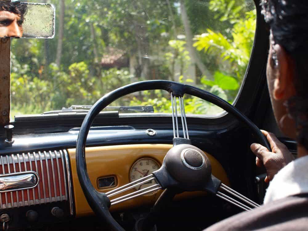 Photo of a car and driver, Nisala Arana, Sri Lanka. FWT Magazine.