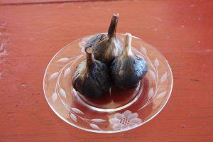Black garlic produced by Al Picketts at Kensington.