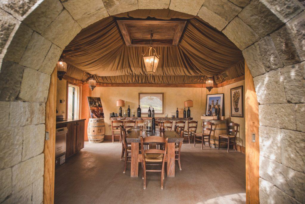 Indoors of wine makers Crocker & Starr. FWT Magazine.
