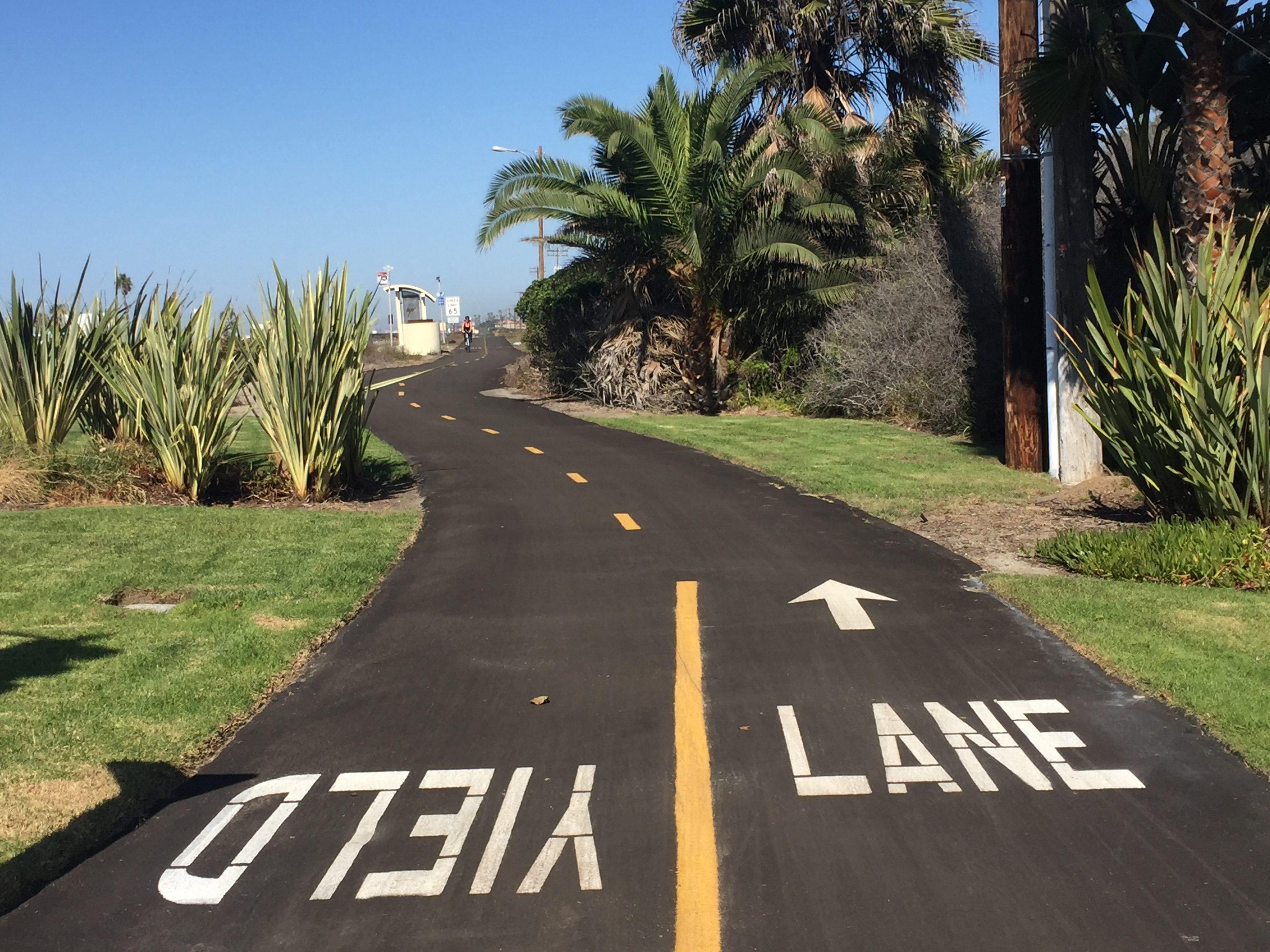 Silver Strand bike path, Coronado. FWT Magazine.