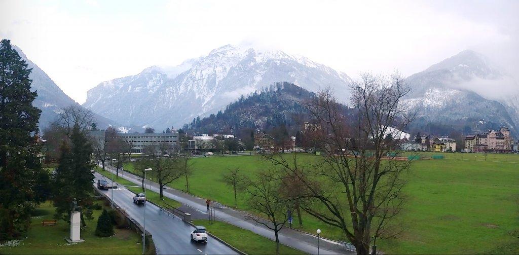 Town Square from Hotel du Nord in Interlaken Switzerland