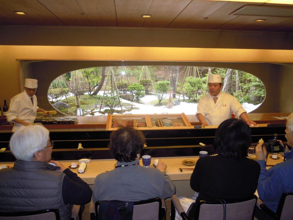 Sushi restaurant in Hotel Nikko Kanazawa