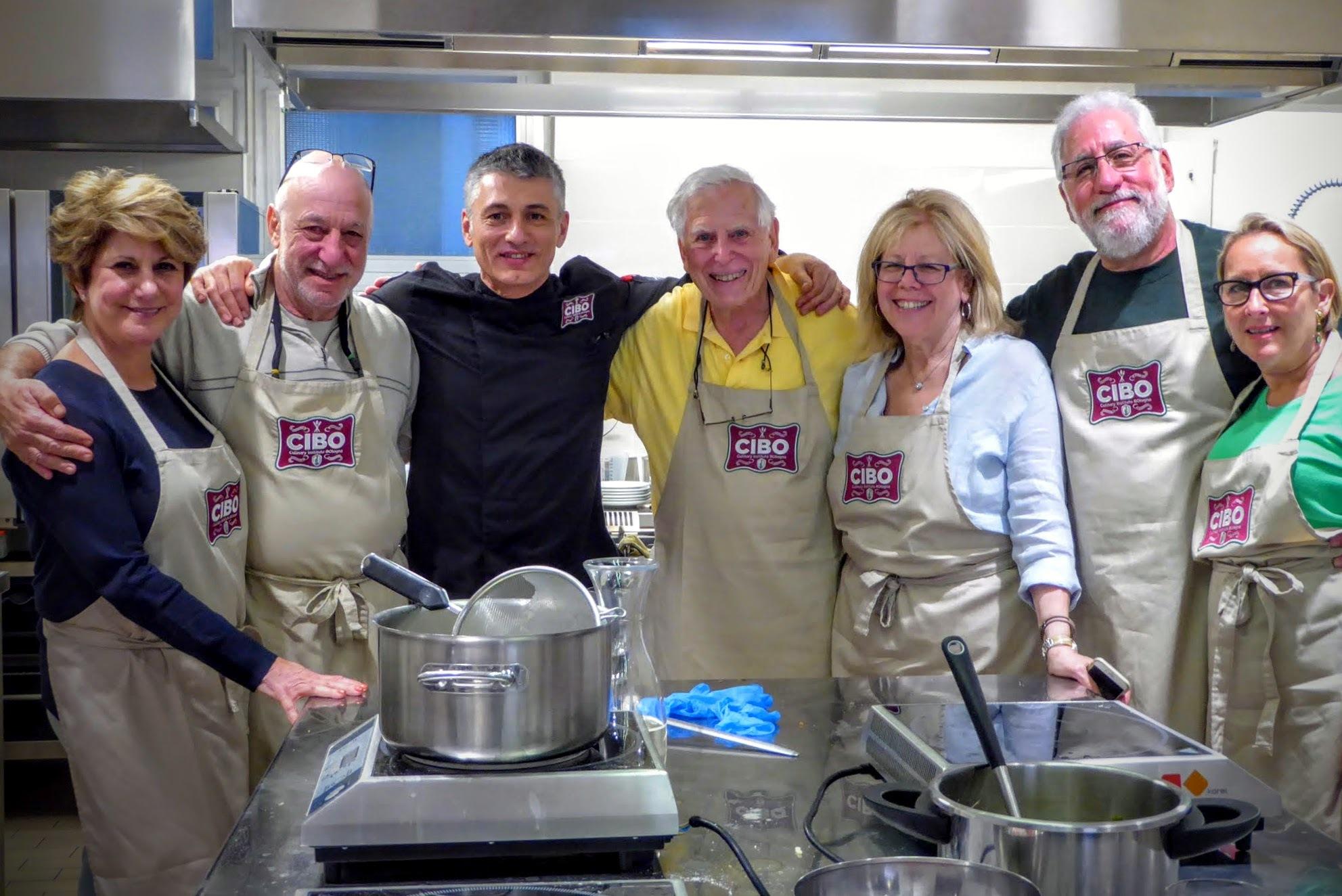 Proud CIBO students with Chef Stefano Corvucci