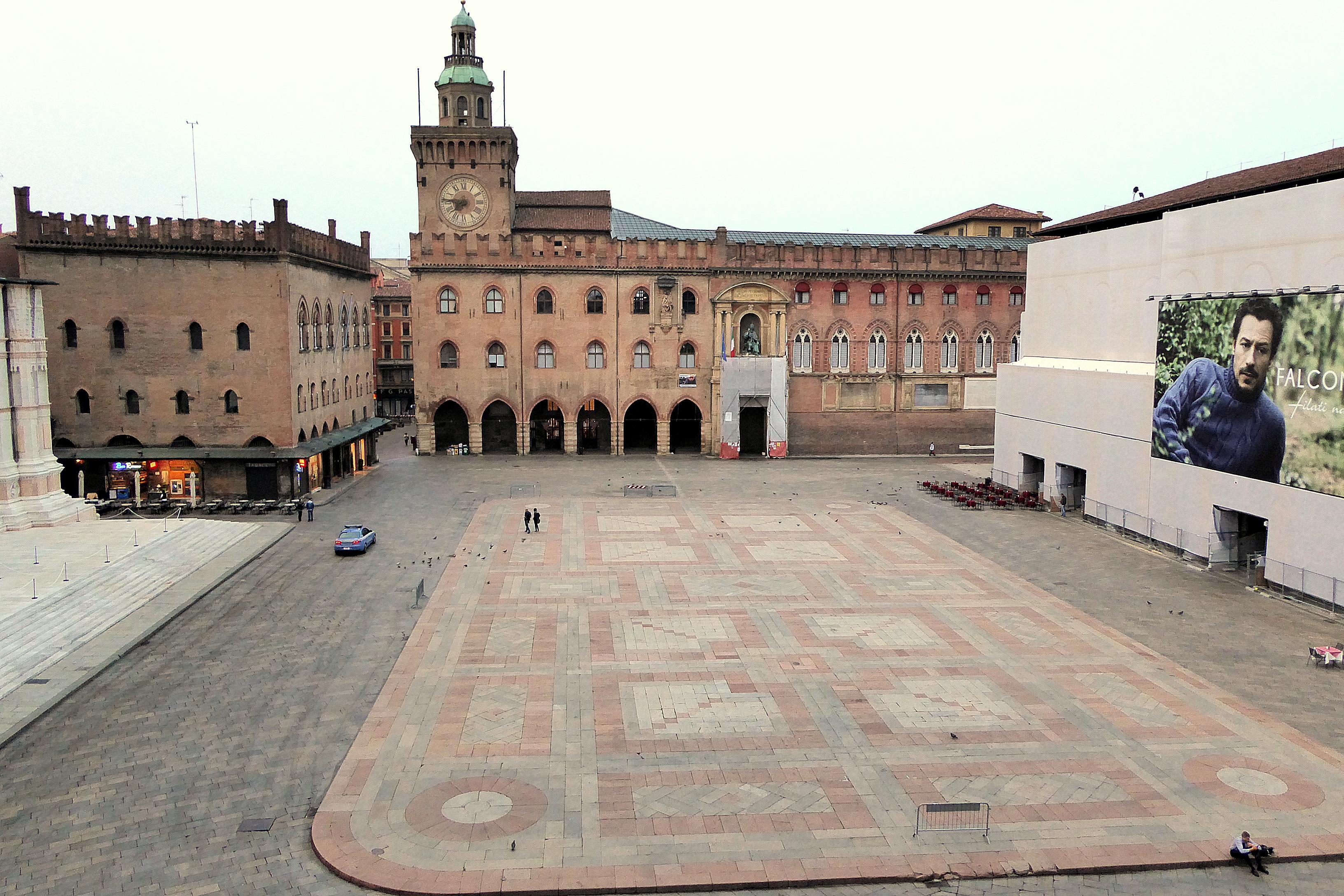 Piazza Maggiore, the main square in Bologna