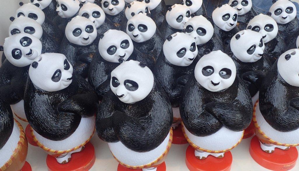 Panda souvenirs abound (c) Teresa Bergen. FWT Magazine.