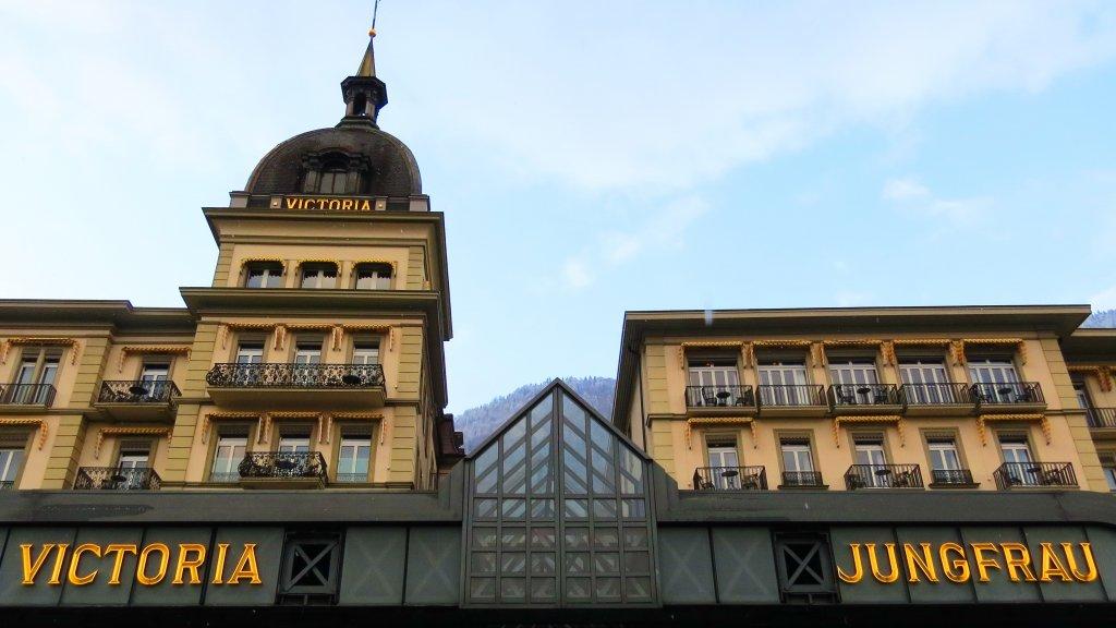 Detail of the Hotel Victoria-Jungfrau in Interlaken