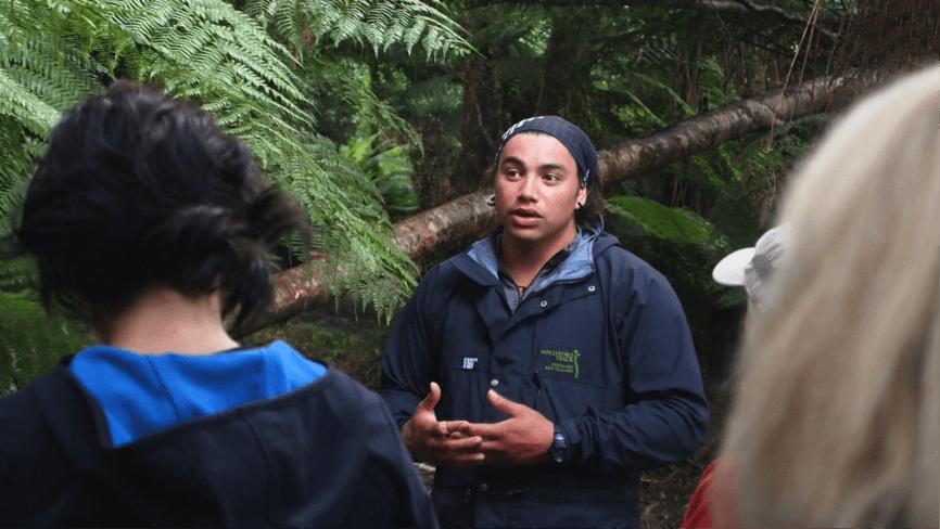 Kahurangi Mahuika-Wilson, guide. Hollyford Track, New Zealand (c) Jacqui Gibson. FWT Magazine.