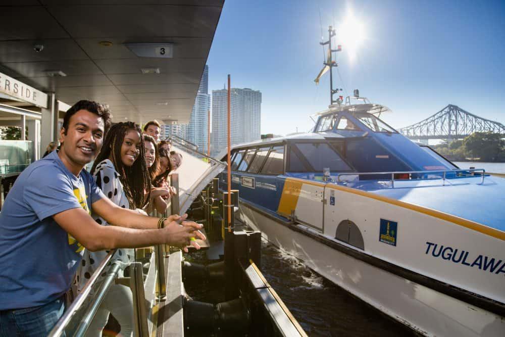 Brisbane ferry terminal (c) Choose Brisbane. FWT Magazine.