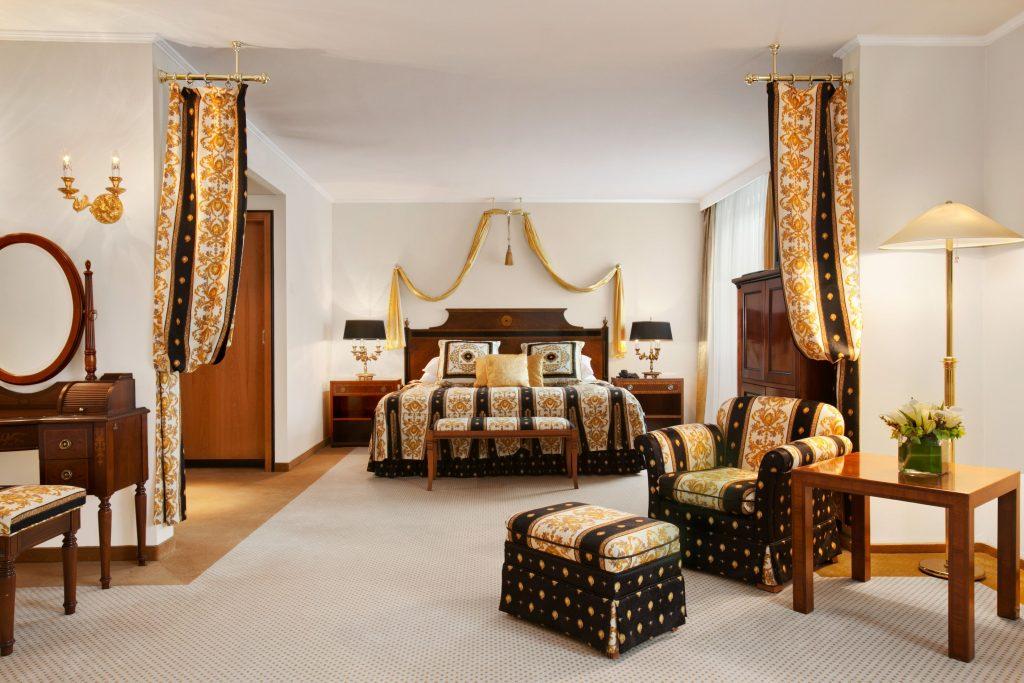 Royal suite at the Hotel Kempinski Corvinus, Budapest