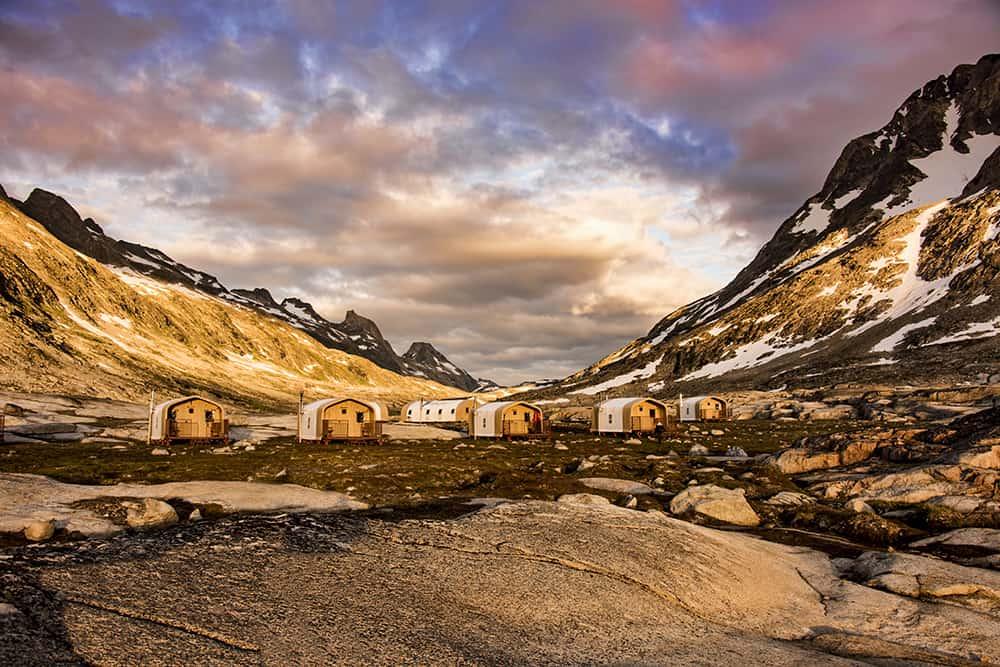 Base Camp Greenland on Ammassalik Island, Greenland