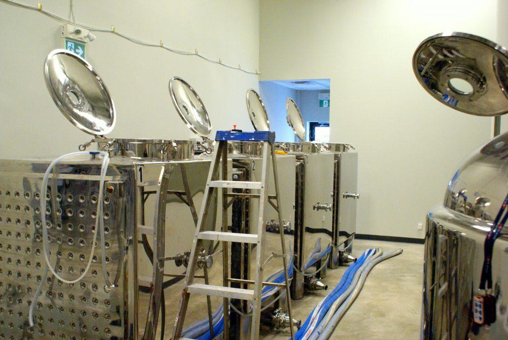 Fermenting tanks at Capital K Distillery | Winnipeg, Manitoba, Canada