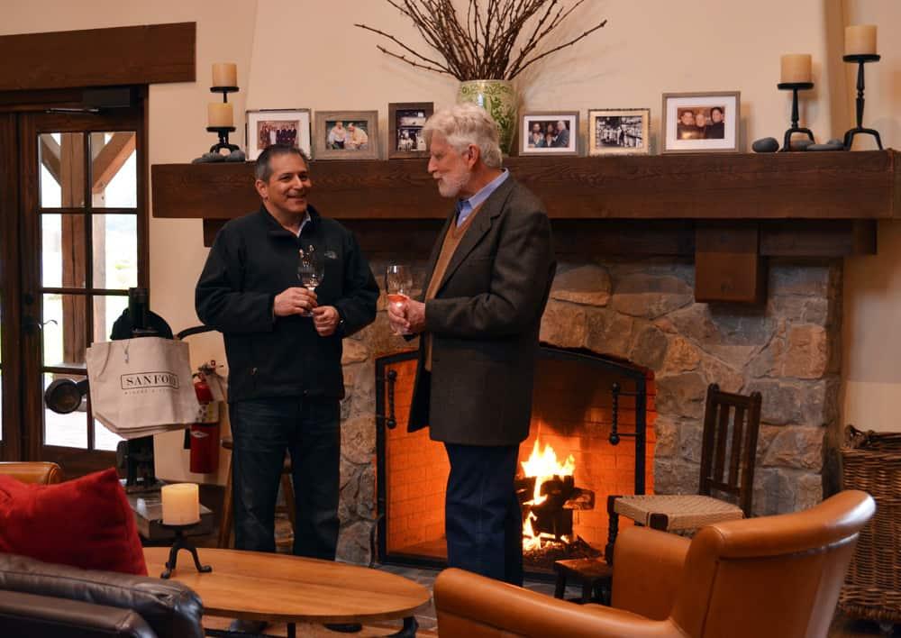 John Terlato and Michael Benedict at Sanford Winery