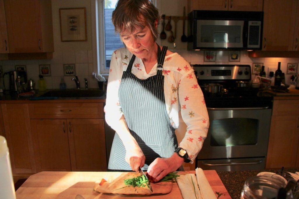 Michele Genest at work in her Whitehorse kitchen © Christine Salins