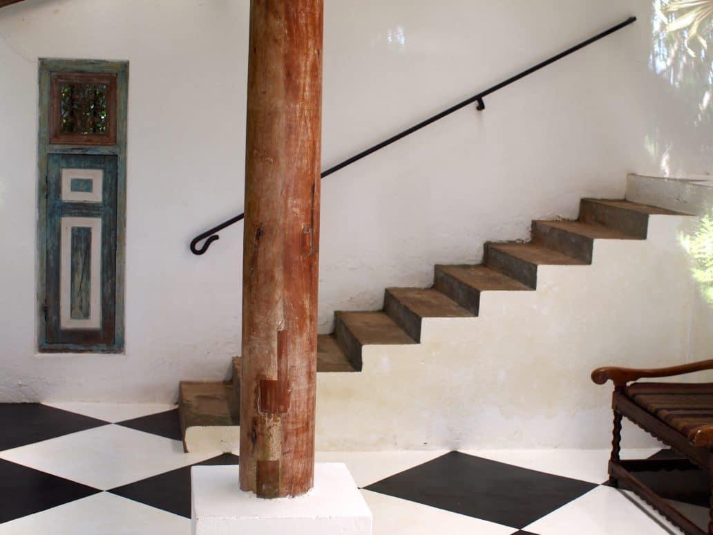 Guest house interior at Lunuganga Gardens. Geoffrey Bawa. FWT Magazine.