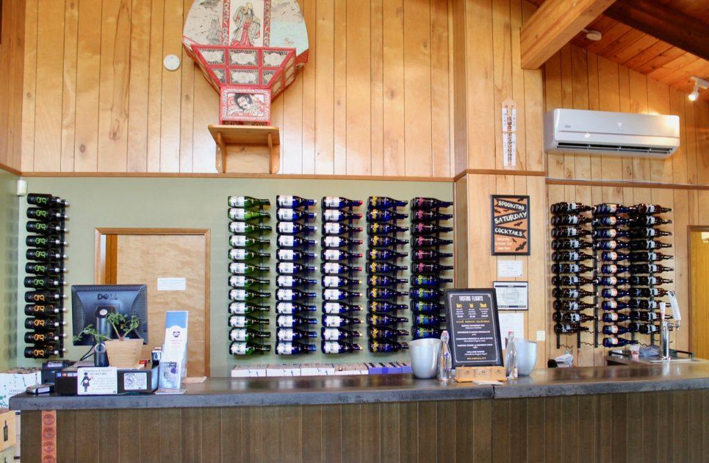 Oregon's Tualatin Valley Sake One's tasting counter. FWT Magazine.