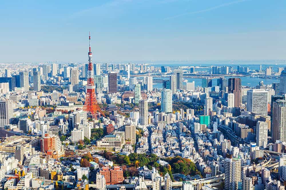 Tokyo skyline. FWT Magazine.