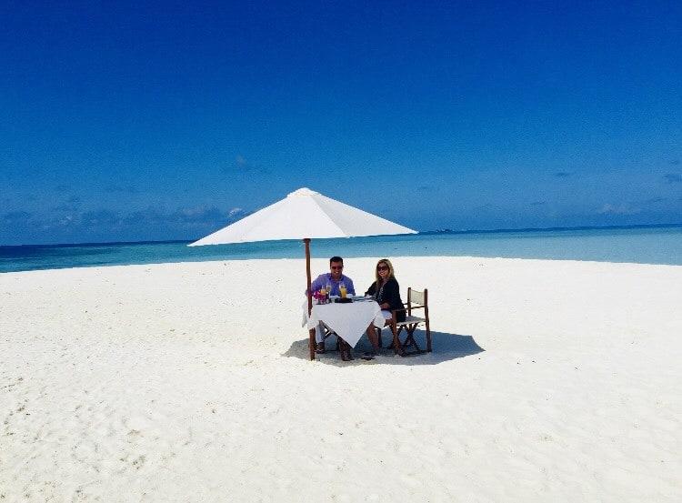 Beach in the Maldives. FWT Magazine.
