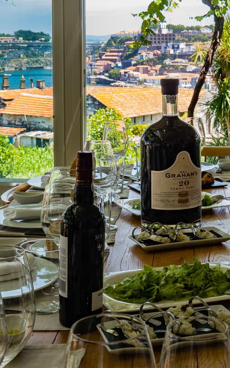 Lunch at Graham's 1890 Lodge, Vila Nova de Gaia, Portugal