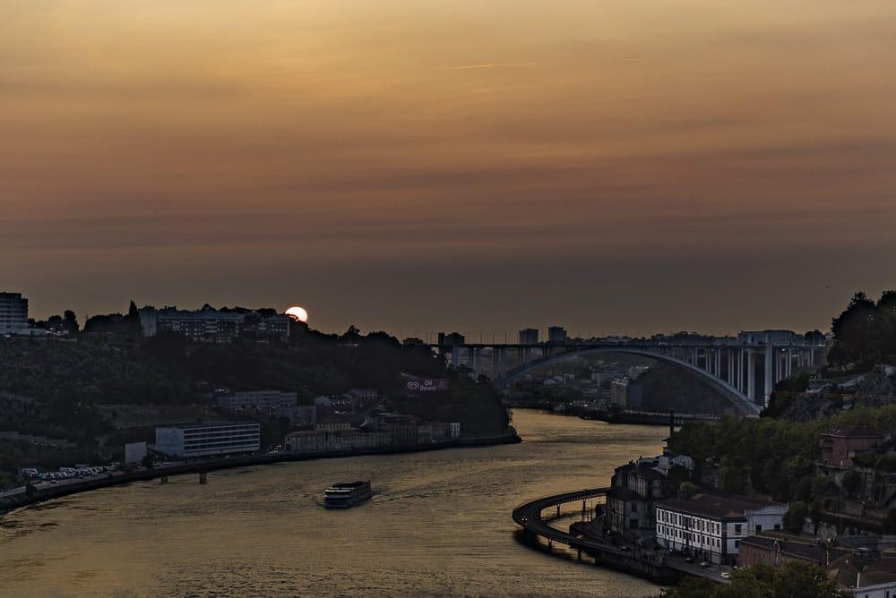 Sunset view from Intrigo, Porto, Portugal