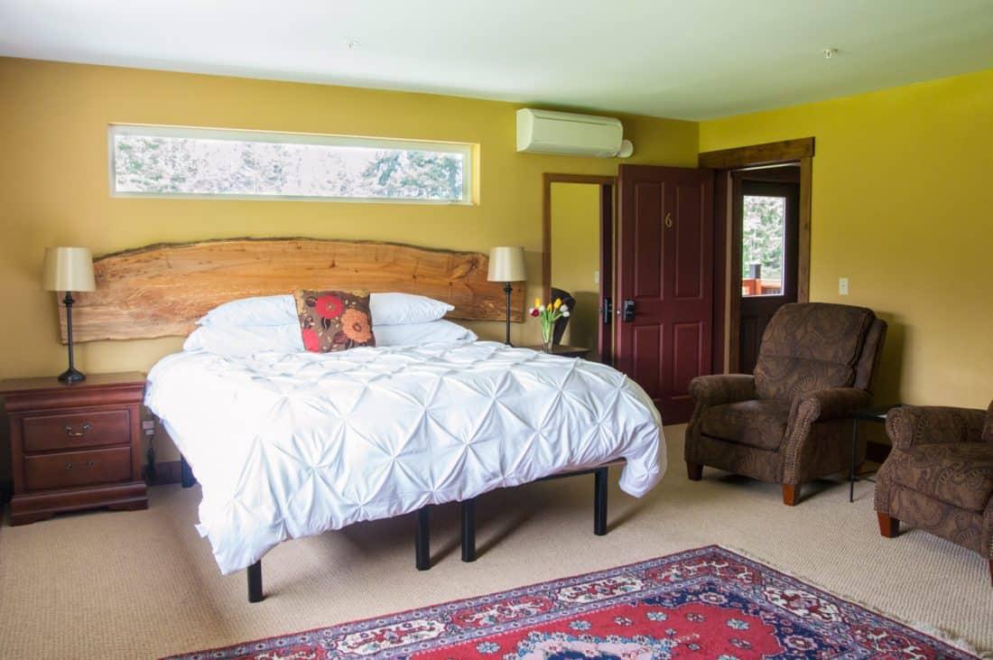 B&B bedroom, Whidbey Island. FWT Magazine.