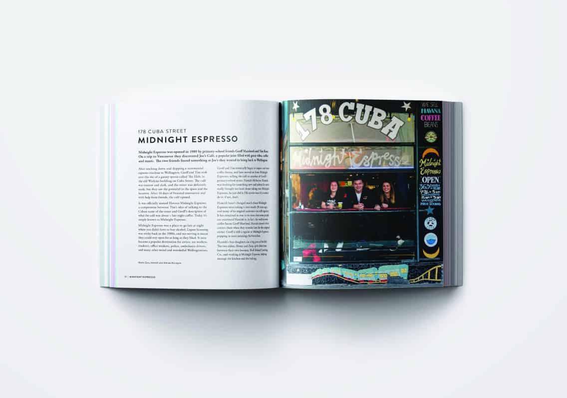 178 Cuba Street, Midnight Espresso. Cuba Street Cookbook. FWT Magazine.