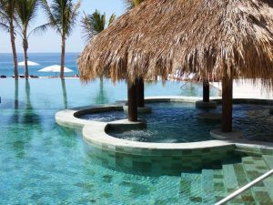 Palapa hot tub