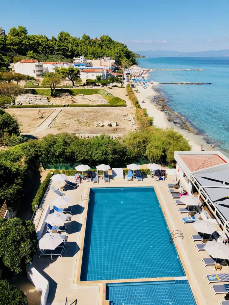 View the Ammon-Zeus Ruins and Hotel Pool