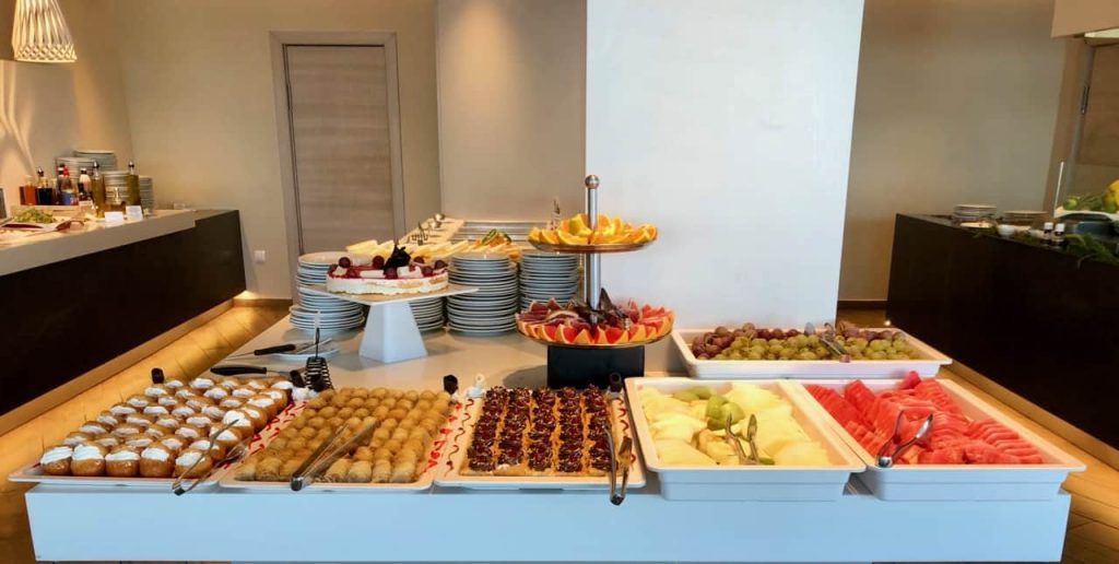 The Dessert Table at the Ammon-Zeus Hotel